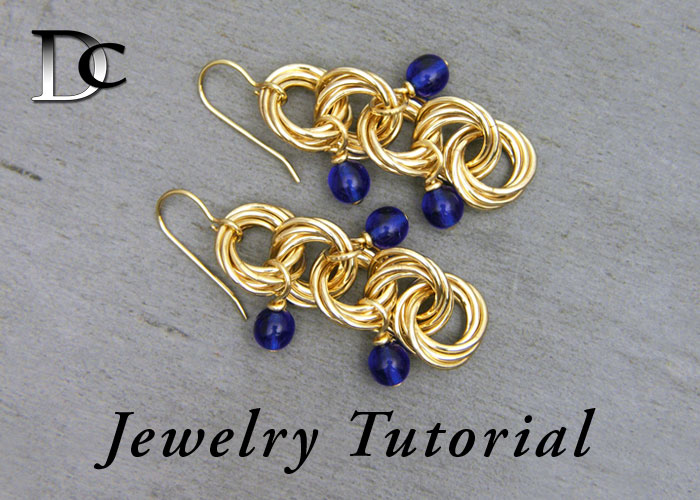 5-ring Mobius Earrings