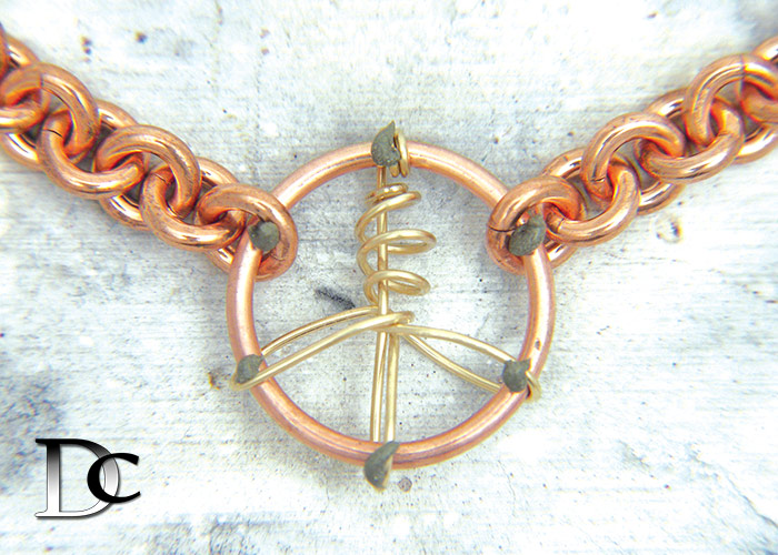 Soldering Peace Necklace